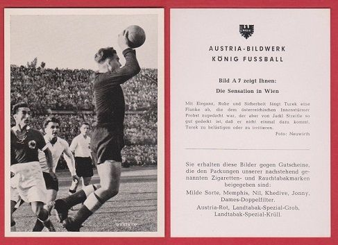 Austria v West Germany 1951 Erich Probst Rapid Vienna Toni