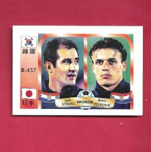BORIS ZIVKOVIC # CROATIA CARD WORLD CUP 2002 REYAUCA 457 IGOR STIMAC